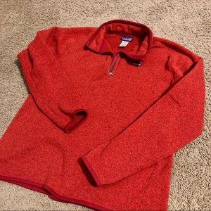 Red Patagonia XL Women's Sweater 1/4 Zip